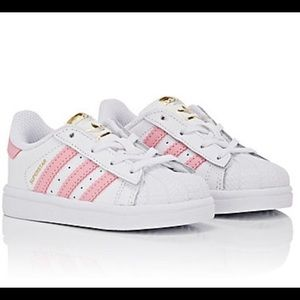 ADIDAS Kids' Superstar Pink Faux-Leather Sneakers